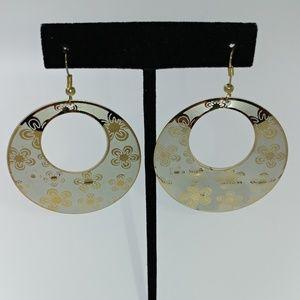 NWT TeSori Metallic Metal Hoop Earrings